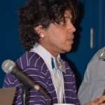 """Amir Rabiyah, Plenary panel, """"Critical Frameworks for Reading Trans Literature,"""" May 22, 2014 (Photo by Iris Allen)"""