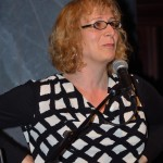 """Trish Salah, Plenary panel, """"Critical Frameworks for Reading Trans Literature,"""" May 22, 2014 (Photo by Iris Allen)"""