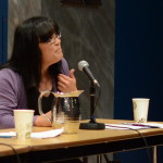 "Ryka Aoki, Plenary panel, ""Story, Histories, Politics,"" May 24, 2014 (Photo by Iris Allen)"