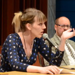 "Casey Plett, Plenary panel, ""Story, Histories, Politics,"" May 24, 2014 (Photo by Iris Allen)"