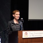 Heather Milne, Introducing Jay Prosser, May 24, 2014 (Photo by Iris Allen)