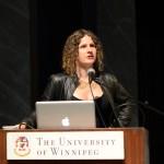 "Micha Cárdenas, Plenary panel, ""Identity and Poetics Across Genres,"" May 24, 2014 (Photo by Iris Allen)"