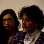 """Gein Wong and Amir Rabiyah, Plenary panel, """"Critical Frameworks for Reading Trans Literature,"""" May 22, 2014 (Photo by Samuel Ace)"""