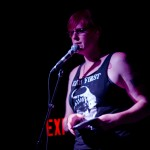 Red Durkin at An Unbecoming Cabaret, May 23, 2014 (Photo by Samuel Ace)