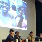 """""""Decolonizing Trans Genres"""" Panel, February 28, 2015 (Photo by Helina Zegeye)"""